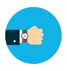 Hand with watch vector image