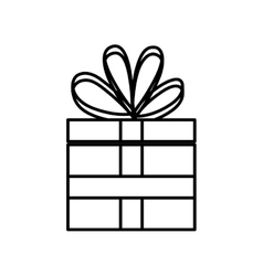 Isolated gift box vector image vector image