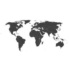 map of the world - robinson projection vector image