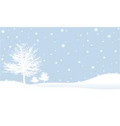 Winter scene vector