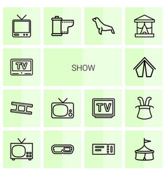 14 show icons vector image