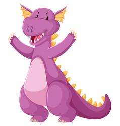 a cute pink dragon vector image