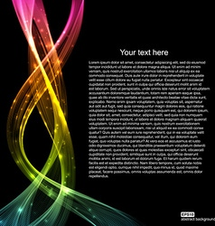 Abstract light wave futuristic background vector image