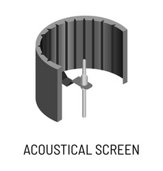 acoustical screen sound recording studio equipment vector image
