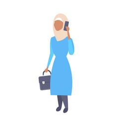 Arabic woman phone calling arab businesswoman vector