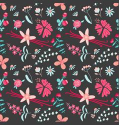 aromatic flower tea seamless pattern with vanilla vector image