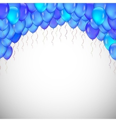 Background of blue balloons vector
