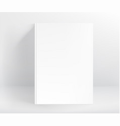 blank white hard cover book mockup a4 format vector image