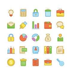Business Icons 2 vector image