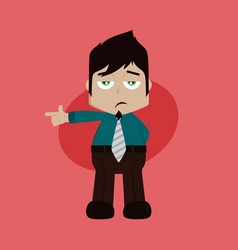 Businessman manager at work pointing finger vector