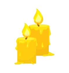 Candles isolated on white Cartoon style vector