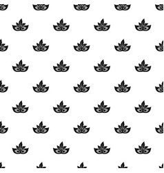 carnaval mask pattern seamless vector image