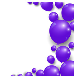 celebration festive purple balloons background vector image