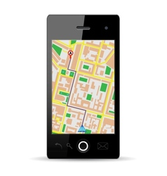 cellphone gps vector image
