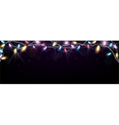 Christmas light banner vector