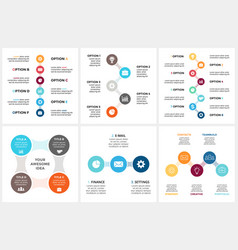 Circle metaball timeline infographic cycle vector