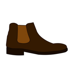 Classic chelsea shoe style boot icon isolated on vector