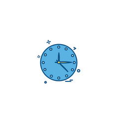 clock icon design vector image