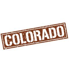 Colorado brown square stamp vector