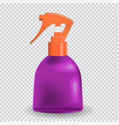 colorful naturalistic bottle with spray vector image