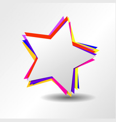 Colorful star logo with symbol sign icon vector