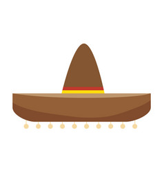 Colorful traditional mexican hat design vector