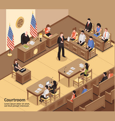 Courtroom isometric vector