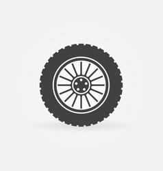 custom car wheel icon or logo element vector image