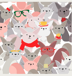 Cute funny celebrated squirrel seamless pattern vector