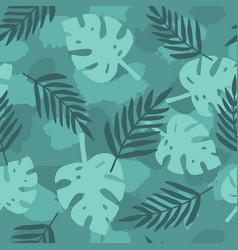 dark green tropical leafs background vector image