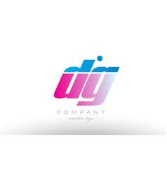 dg d g alphabet letter combination pink blue bold vector image vector image