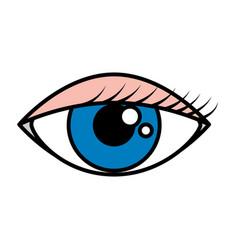 female eye isolated icon vector image