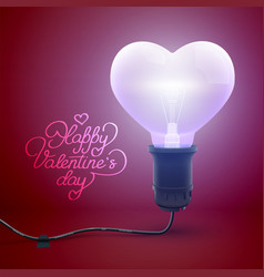 festive valentines day template vector image