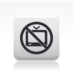 Fobidden tv icon vector