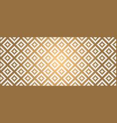 Gold golden tribal ethnic aztec style vector