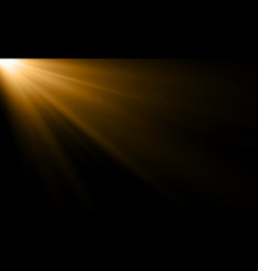 Golden light ray or sun beam background abstract vector