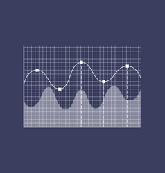 graphic and curved lines vector image
