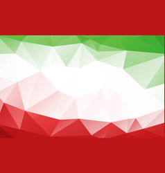 green red italian triangle polygonal geometric vector image