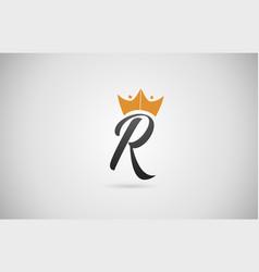 Hand written r alphabet letter logo icon business vector
