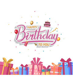 Happy birthday design with gift box isolated vector