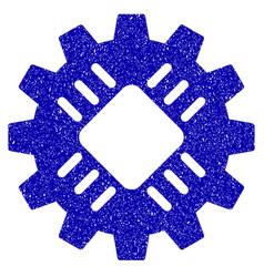 Hardware gear icon grunge watermark vector