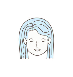 head of woman avatar character vector image