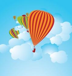 hot air balloons illustration vector image
