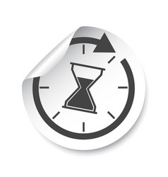 hourglass sticker label time vector image
