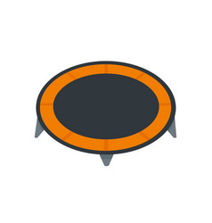House trampoline icon flat style vector