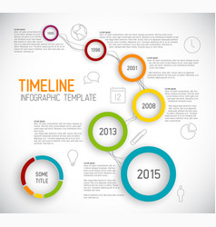 infographic light timeline report template with vector image