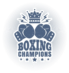 kings boxing blue vector image