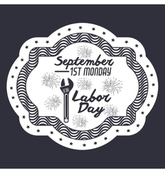 Label of labor day design vector