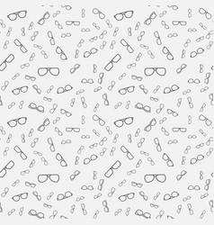 Minimal eyeglasses seamless pattern vector