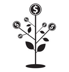Money tree icon flat graphic design vector